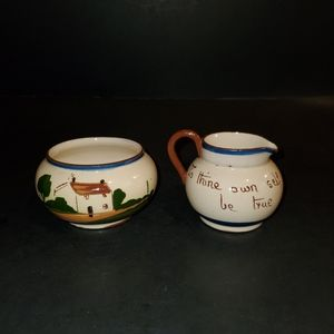 Vintage Watcombe Torquay Mini Cream and Sugar